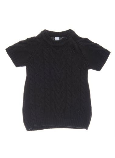Panço Kız Bebek Triko Elbise 1722690100 Siyah